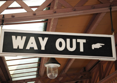 Way out sign, Moor Street railway station, Birmingham.