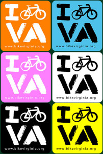 I Bike VA-decals