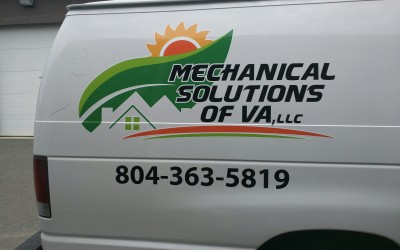 Personalized Decals for Service Van in Richmond, VA