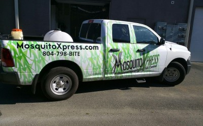 Customized Truck Wrap in Ashland, VA for Mosquito Xpress