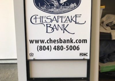 Chesapeake Bank metal yard sign GOOD