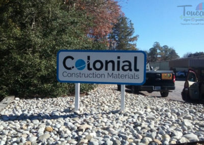 Colonial Construction Materialsn - monument sign