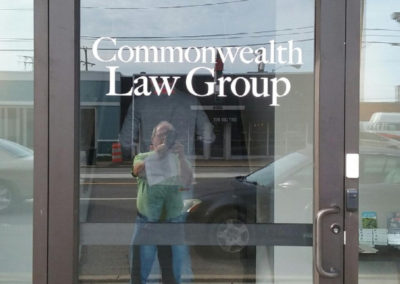 Commonwealth Law Group-door graphics