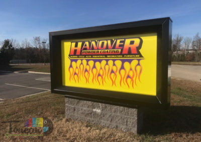 Hanover Powder Coating monument sign