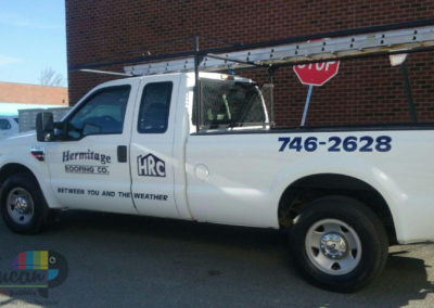 Hermitage Roofing Co-truck graphics