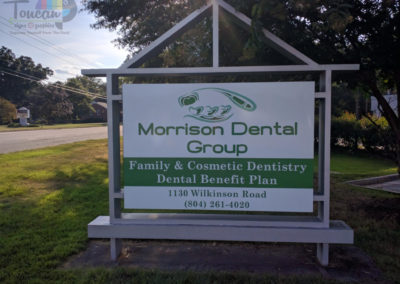 Morrison Dental Group monument sign-LG