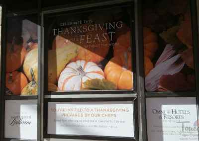 Omni - Happy Hour Windows-Change Out to Thanksgiving Feast