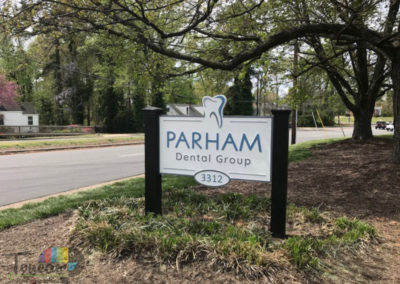 Parham Dental Group-monument sign