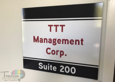 TTT Mgt Corp interior wall sign angle