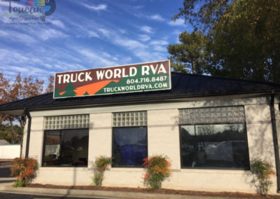 Truck World RVA roof sign3