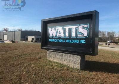 Watts monument sign